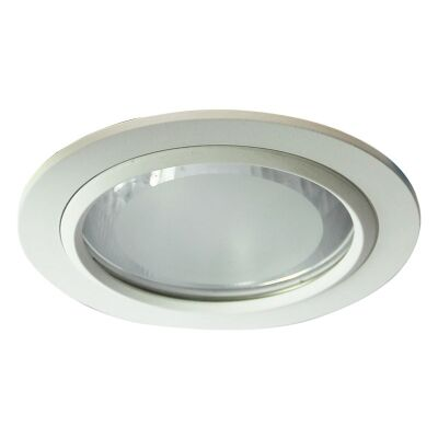 Vida Glass Covered White Recessed Downlight (Oriel Lighting)