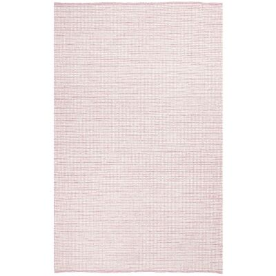 Loft Handwoven Felted Wool Rug, 115x165cm, Pink