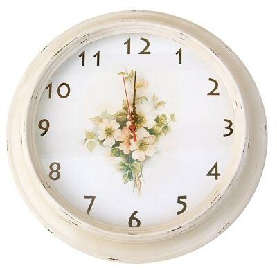 Doris White Wooden Clock