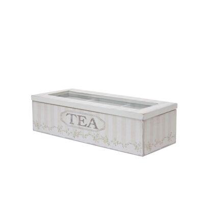 Wooden Tea Box in Cream - Small
