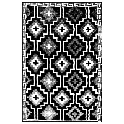 Lhasa 180x270cm Reversible Outdoor Rug - Black/Cream