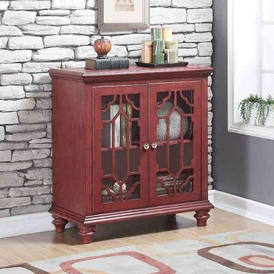 Enrica Solid Amerian Poplar Timber 2 Door Cabinet, Red