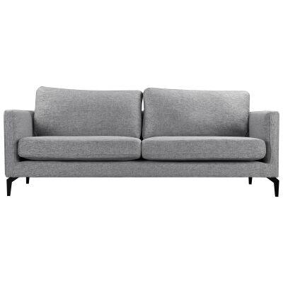 Gizi Fabric Sofa, 3 Seater, Grey