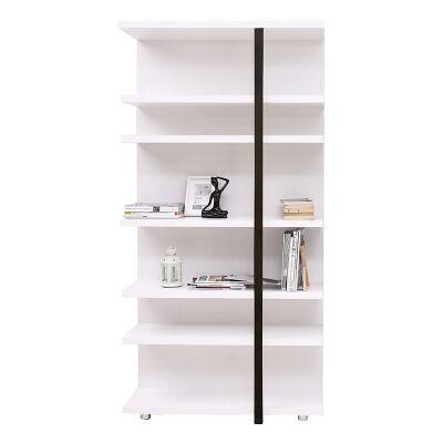 Tansy Display Shelf, White / Black