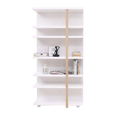 Tansy Display Shelf, White / Oak