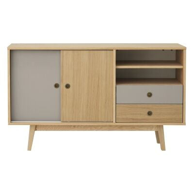 Sabra Wooden 2 Door 2 Drawer Sideboard, 140cm