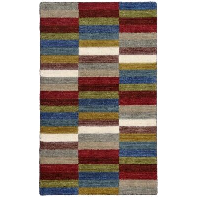 Lille Handwoven Wool Rug, 130x80cm, Multi