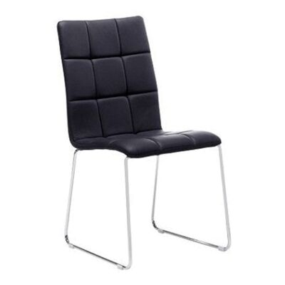 Kiel PU Leather Dining Chair, Black