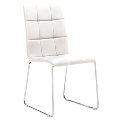 Kiel PU Leather Dining Chair, White