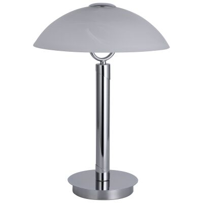 Ember Glass & Metal Touch Table Lamp, Chrome