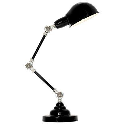 Elton Adjustable Metal Desk Lamp, Black