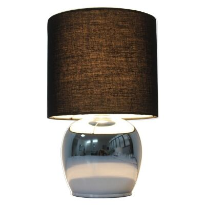 Corin Metal Base Touch Table Lamp, Black