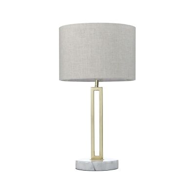 Margleus Metal & Marble Base Table Lamp