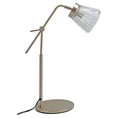 Finnie Metal & Glass Desk Lamp