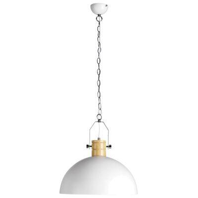 Oakton Iron Pendant Light, White
