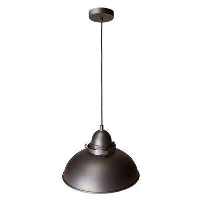 Manor Metal Pendant Light, 1 Light, Antique Chrome