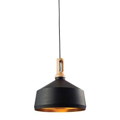 Biorn Angled Iron Pendant Light, Black