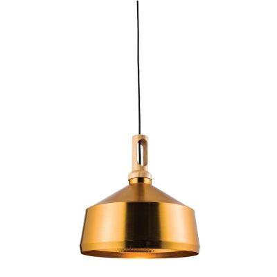 Biorn Angled Iron Pendant Light, Gold