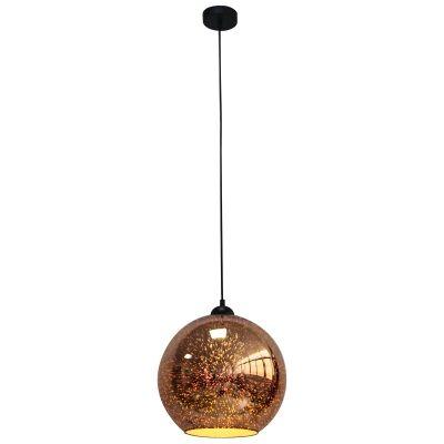 Javarone Glass Pendant Light, 25cm, Copper