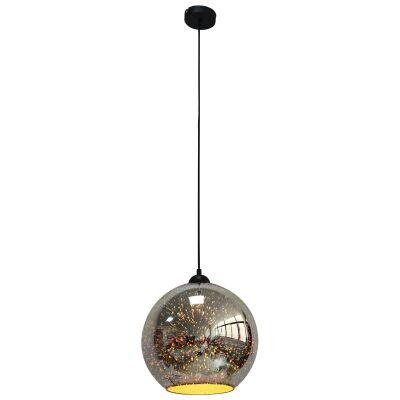 Javarone Glass Pendant Light, 30cm, Chrome