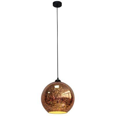 Javarone Glass Pendant Light, 30cm, Copper