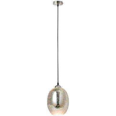 Moravian Glass Pendant Light, Chrome
