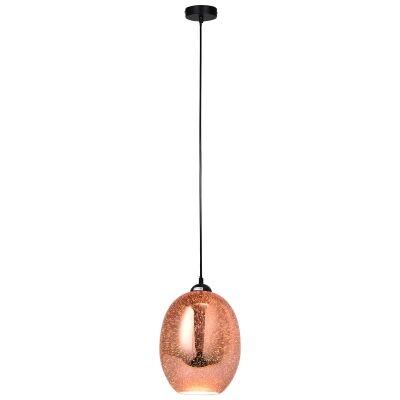 Moravian Glass Pendant Light, Copper