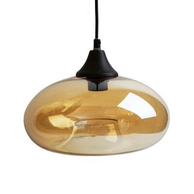 Mason Glass Pendant Light, Amber