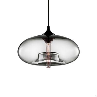 Mason Glass Pendant Light, Grey