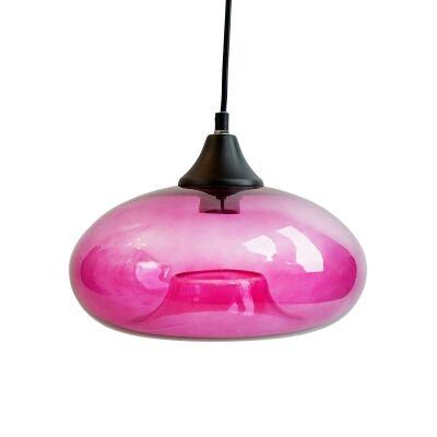 Mason Glass Pendant Light, Pink