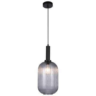 Tius Ribbed Glass Pendant Light, Oblong