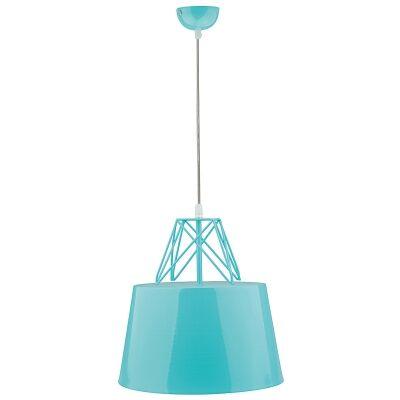 Kaelan Iron Pendant Light, Blue