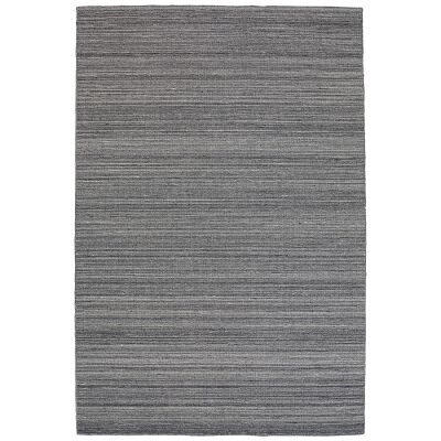 Loom Wool Rug, 225x155cm, Smoke