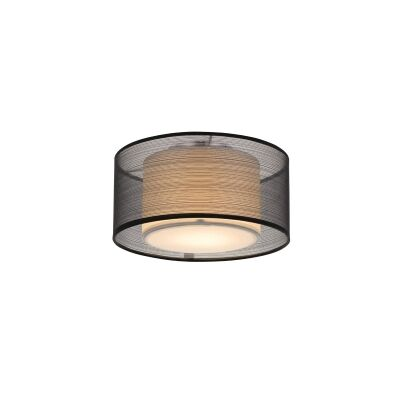 Loria Fabirc Batten Fix Ceiling Light, Small, Black