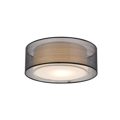 Loria Fabirc Batten Fix Ceiling Light, Large, Black