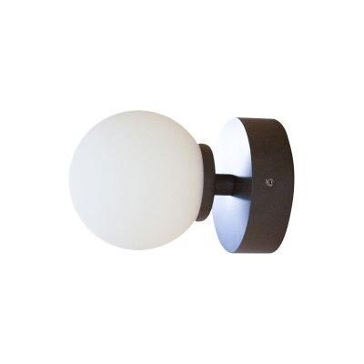 Orb Wall Light, 1 Light, Small, Dark Bronze