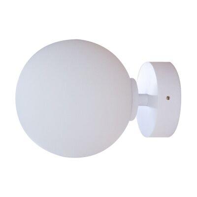 Orb Wall Light, 1 Light, Medium, White