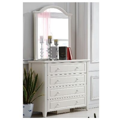 Belly 3 Drawer Dressing Table with Mirror