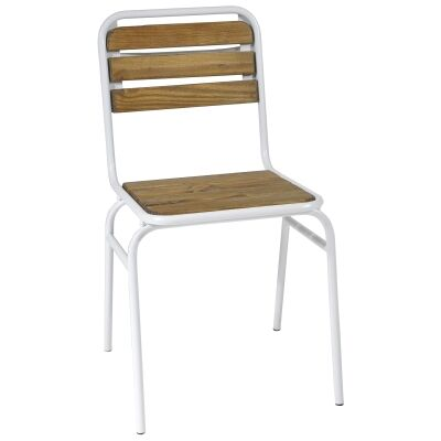Cafe Commercial Grade Iron Dining Chair, White