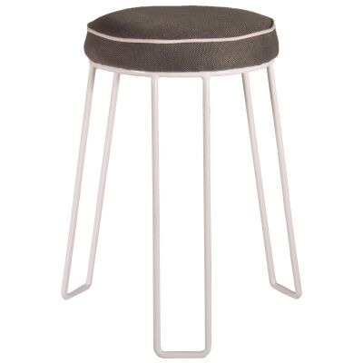 Moree Commercial Grade Cushioned Metal Stackable Round Stool