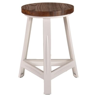Rack Commercial Grade Metal Stool with Timber Seat