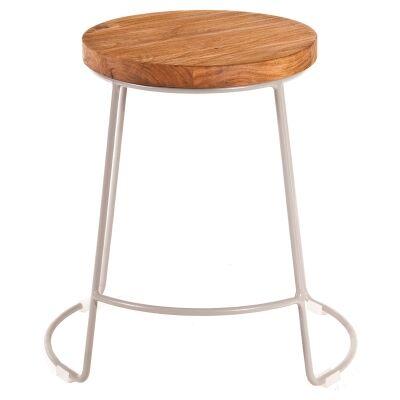 Splay Commercial Grade Timber & Iron Dining Stool, Grey