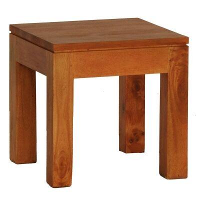 Amsterdam Solid Mahogany Timber Lamp Table - Light Pecan