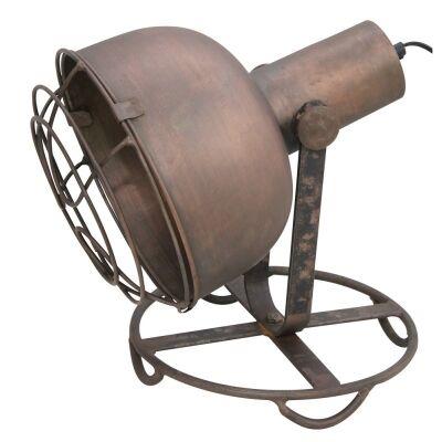 Boyce Rustic Spotlight Table Lamp in Copper