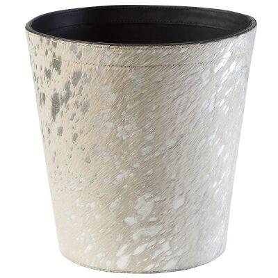 Longford Leather Hide Paper Waste Bin