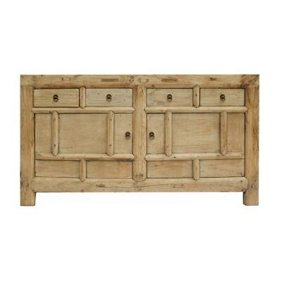 Poya Elm Timber 2 Door 4 Drawer Sideboard, 147cm