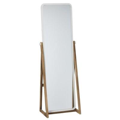 Thea Iron & Fir Timber Frame Cheval Mirror, 168cm