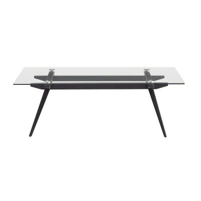 Montrose Glass & Metal Coffee Table, 120cm