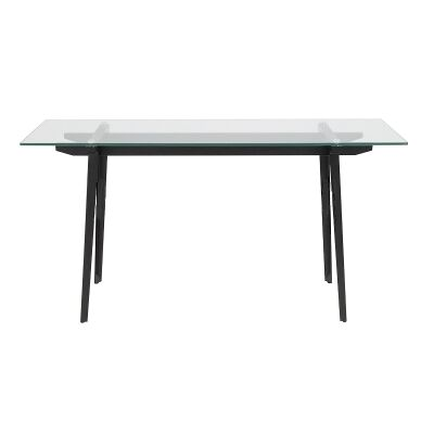 Montrose Glass & Metal Console Table, 140cm