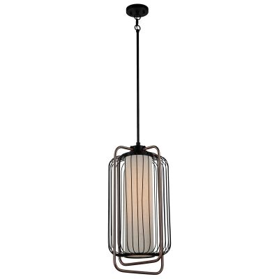 Maple Steel Cage Pendent Light, Medium